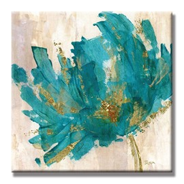 Decorative None Framed Blue Flower Pattern Home Decorative Oil Painting