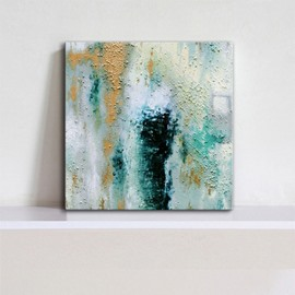 Blue Simple Style Decorative Canvas Stretched None Framed Oil Painting
