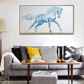 Simple Style Handmade Horse Pattern Framed Ready to Hang Wall Art Print