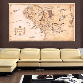 Wall Art World Map Oil Painting Home Decor