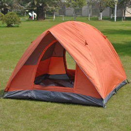 3-4 Person Durable Waterproof and Windproof Fiberglass Skeleton Camping and Hiking Tent