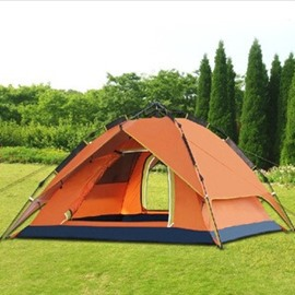 2 Person Automatic Double Layers Waterproof and Windproof Instant Fiberglass Skeleton Camping Tent