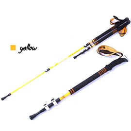 Triarticular Lightweight Carbon Fiber Cool max Adjustable Alpenstock