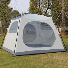 5-8 Person Double Layers One Bedroom Fiberglass Skeleton Waterproof Tent