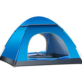 3-4 Person UV-proof Waterproof Fiberglass One Bedroom Fiberglass Camping Outdoor Tent