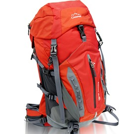 50L Red Outdoor Camping Hiking Trekking Traveling High Capacity Nylon Backpack