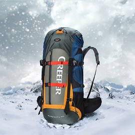60L Dark Blue Outdoor Camping Hiking Trekking Traveling Nylon Backpack