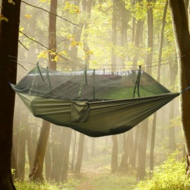 2-Person Nylon Taffeta Professional Outdoor Camping Hammock with Mosquito Net