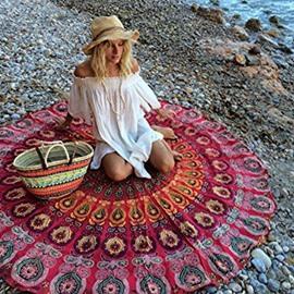 Indian Mandala Style Printed Blanket Picnic Beach Throw Mat