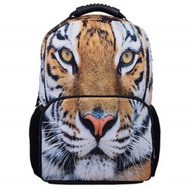 Outdoor 3D Tiger Face Hiking and Traveling 1.15L Durable 2 Layers Backpack
