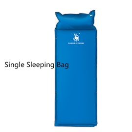 Single Inflatable with Built-In Pillow Camping Airbed