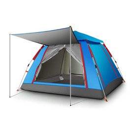 Outdoor One Room Waterproof 3-4 Person Camping Tent Automatic Pop Up Quick Shelter