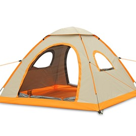 Waterproof Camping Throwing Pop Up 3-4 Persons Automatic Speed Open Tent