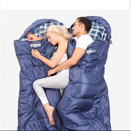 Couple Lightweight Portable Waterproof Envelope Type Sleeping Bag