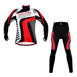 Men's Grid Pattern 3D Padded Morden Long Sleeve Outdoor Outfit Cycling Clothing