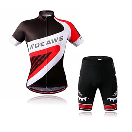 3D Padded Shorts Sleeve Set Outdoor Sports Cycling Jersey Men' s Simple Style