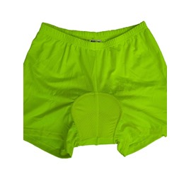 Women's Bright Pink and Green Outdoor Shorts Padded Compression Cycling Underwear Tights