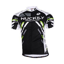 Male Black Streamline Breathable Road Bike Jersey Full Zipper Quick-Dry Cycling Jersey