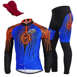 Male Long Sleeve Breathable Bike Jersey with Full Zipper Quick-Dry Cycling Suit