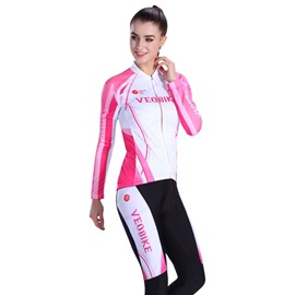 Bright Color Close-fitting Simple Design Cycling Clothing
