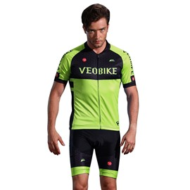 3D Silicone Magic Padded for Bike Men Cycling Jersey Set Green