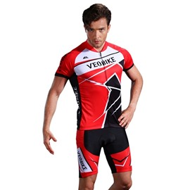3D Silicone Magic Padded Red for Bike Men Cycling Jersey Set