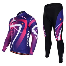 Men's Cycling Clothing Set Breathable Quick Dry Long Sleeve Jersey Color