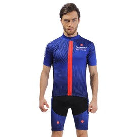 Blue 3D Padded Pants Road Bike Comfortable Men's Cycling Jersey
