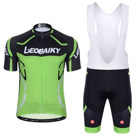 Men Shorts Padded Cycling Pants Bicycle Jersey Green