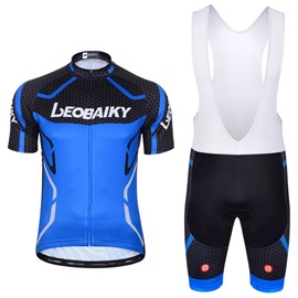 Men Shorts Padded Cycling Pants Bicycle Jersey Blue
