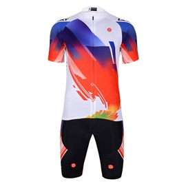 3D Silicone Magic Color Block Padded for Bike Men Cycling Jersey Set Glitter