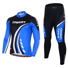 Men's Cycling Clothing Set Breathable Quick Dry Long Sleeve Jersey Sharp