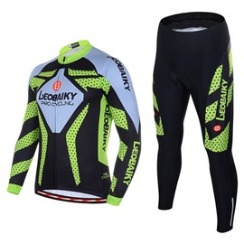 Men's Cycling Clothing Set Breathable Quick Dry Long Sleeve Jersey Point