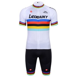Men's Short Sleeve Quick-Dry Colorful Line Breathable Jersey set