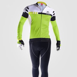 Cycling Jersey Outfits Windproof Bike Clothing Sets Green