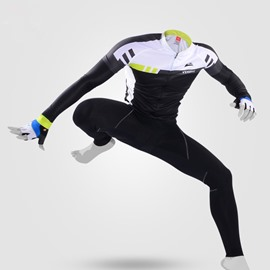 Cycling Jersey Outfits Windproof Bike Clothing Sets White