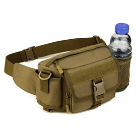 Multifunction Waterproof Lightweight Daybag with Bottle Holder Outdoor Running Hiking Waist Bag