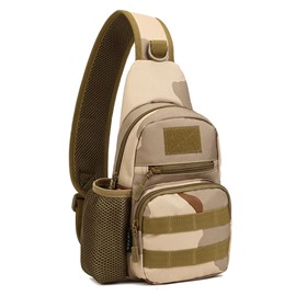 Lightweight Camouflage Shoulder Waterproof Easy-Clean Outdoor Chest Bag Bckpack
