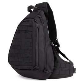 Men's Cool Unbalance Backpack Crossbody Sling Shoulder Triangle Daypack