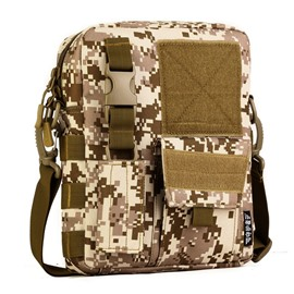 Camo Waterproof MOLLE Army Military Shoulder Bag Black Men' s Backpack