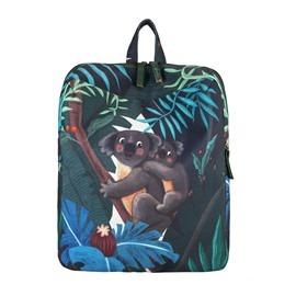 Koala Tropical Leaves Canvas for Boy&Girl Schoolbag Outdoor Backpack