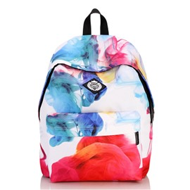 Colorful Cloud Pattern Waterproof Travel School Shoulder Bag