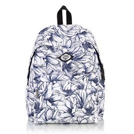 Blue Mandala Floral Pattern School Travel Shoulder Backpack