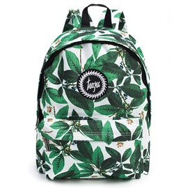 Tropical Leaves Pattern School Travel Shoulder Backpack