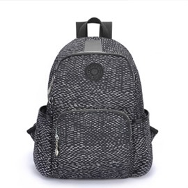 Travel Black Snake Skin Style Backpack Shoulder Waterproof Canvas Bag
