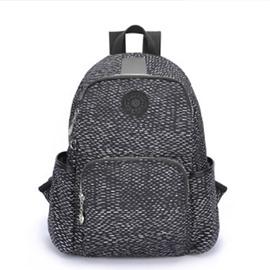 Travel Black Snake Skin Style Backpack Shoulder Waterproof Canvas Bag