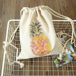 Drawstring Bag Travel Summer Pineapple Bottle Pattern Portable Backpack