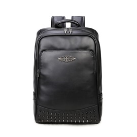 3D Fashion Studded Backpack PU Leather Student Shoulder Bag