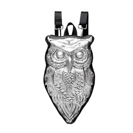 3D Owl Studded Backpack PU Leather Rucksack Shoulder Bag