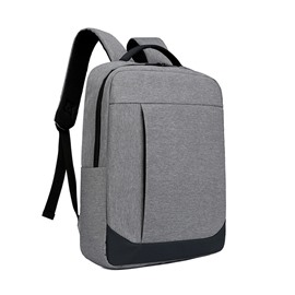 Multi Layer Solid Color Business Polyester Computer Zipper Backpack